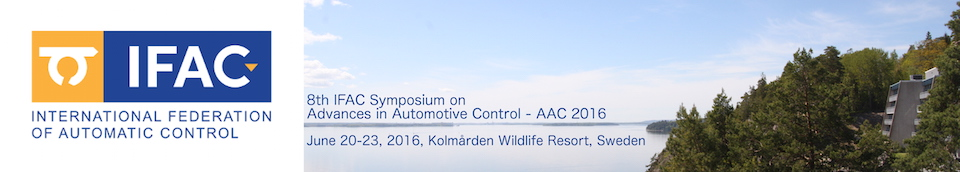 Advances in Automotive Control - 8th AAC 2016™
