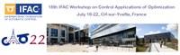 Control Applications of Optimization - 18th CAO 2022™
